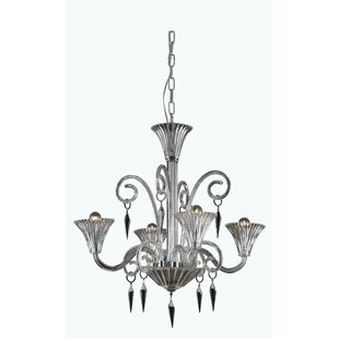Katherin 4-Light Shaded Chandelier by Rosdorf Park