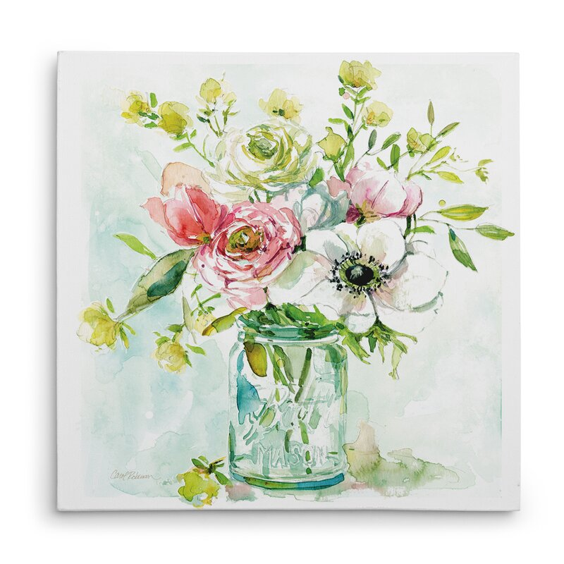 'Asbury Garden Belle Bouquet II' Acrylic Painting Print on Canvas