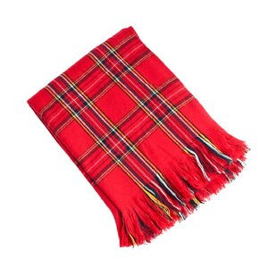 Sevan Clic Red Plaid Design Throw Blanket