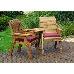 Farrar Wooden Love Seat By Union Rustic