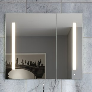 AiO 29.25 x 30 Recessed Frameless Medicine Cabinet with 6 Adjustable Shelves and LED Lighting Robern