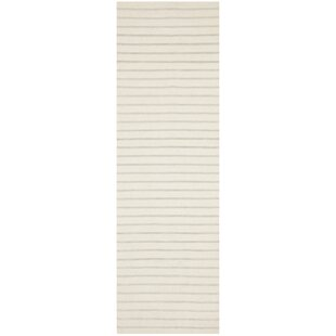 Price comparison Dhurries Hand-Woven White Area Rug By Safavieh