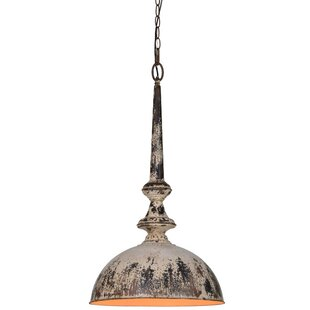 Rivers 1-Light Dome Pendant by World Menagerie