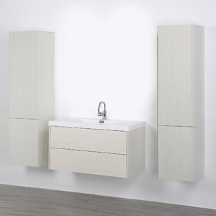 39 Wall-Mounted Single Bathroom Vanity Set