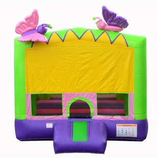JumpOrange Glittery Inflatable Butterfly Bounce House