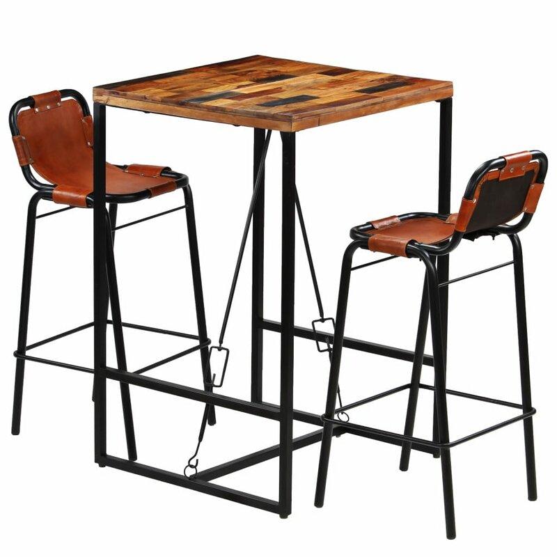 Williston Forge Essgruppe Opalo mit 2 Stühlen