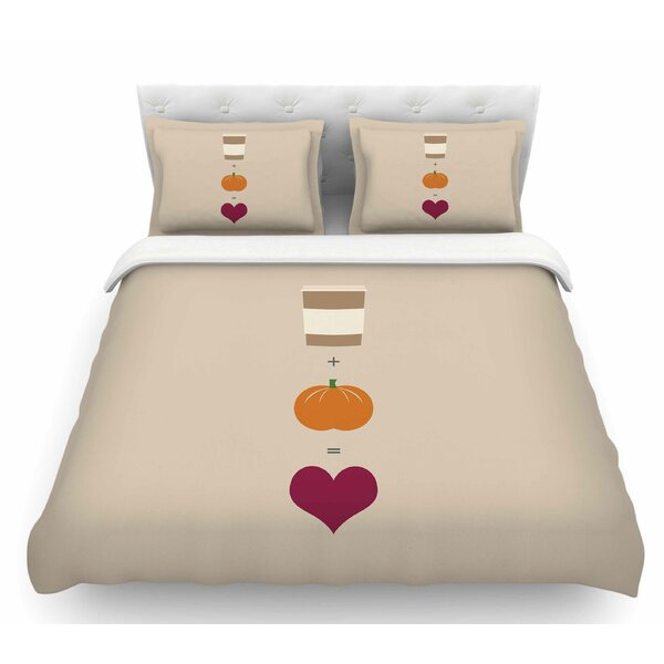 Pumpkin Spice Latte  Featherweight Duvet Cover