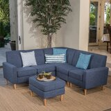 Weisser 80.7 Symmetrical Sectional with Ottoman by George Oliver