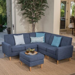Weisser 807 Symmetrical Sectional with Ottoman