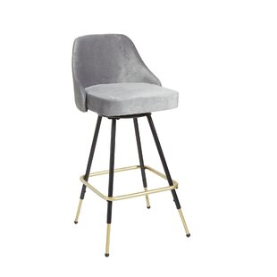 Coupland Adjustable Height Swivel Bar Stool by Everly Quinn