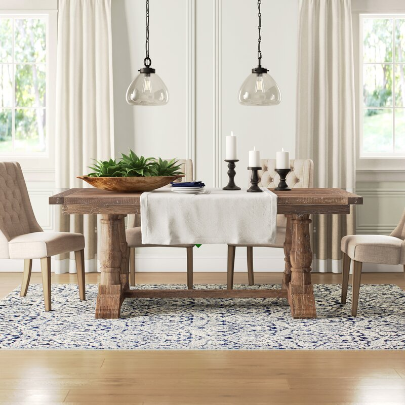 Norah Solid Wood Dining Table Reviews Birch Lane