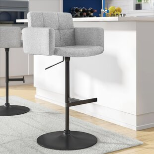 Earleville Adjustable Height Swivel Bar Stool Wade Logan