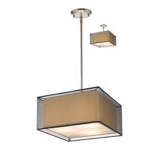 Wrought Studio Fleckenstein 3-Light Square/Rectangle Chandelier