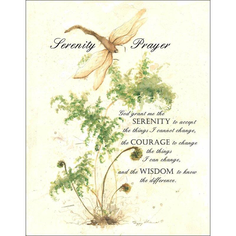 Winston Porter Serenity Prayer Graphic Art Plaque Reviews Wayfair