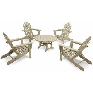 Classics 5-Piece Folding Adirondack Set with Table