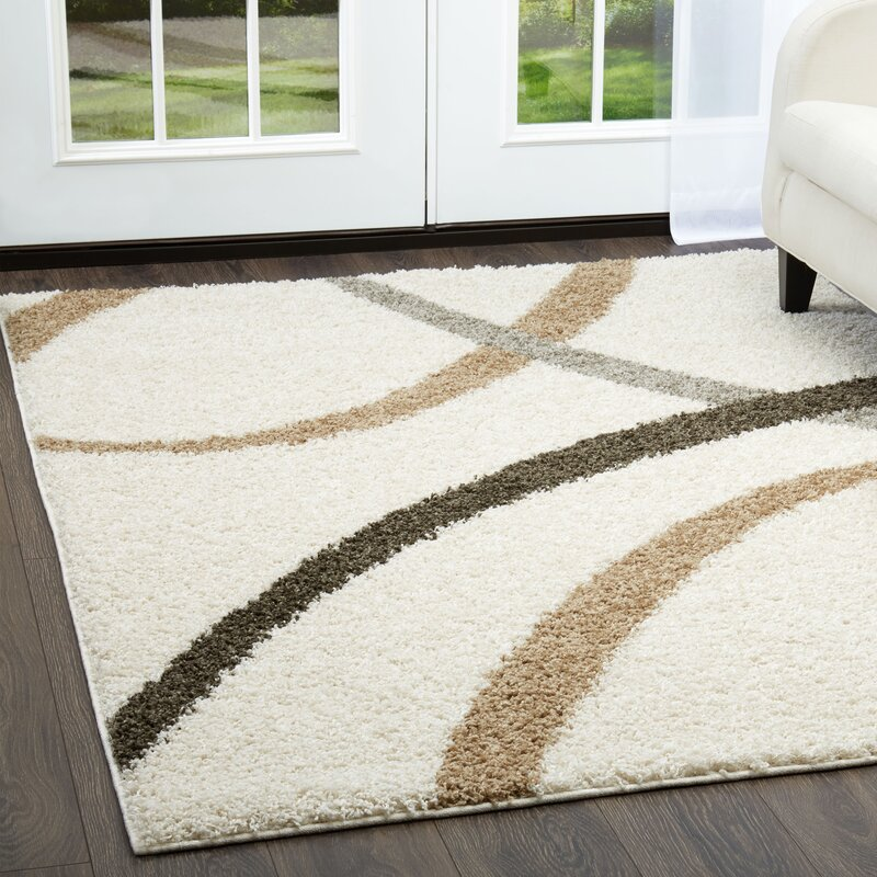 Nicole Miller Synergy Contemporary Curves Brown Beige Ivory Area Rug Reviews Wayfair