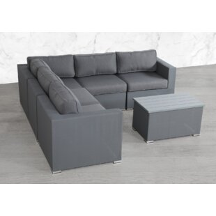 Fryar 6 Piece Sectional Seating Group with Cushions