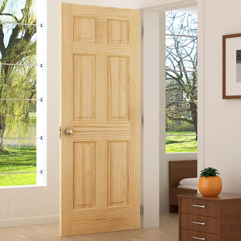 Kiby Colonial Solid Wood Panelled Pine Slab Interior Door Reviews Wayfair