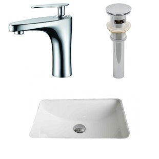 Shopping for Ceramic Rectangular Undermount Bathroom Sink with Faucet and Overflow By American Imaginations