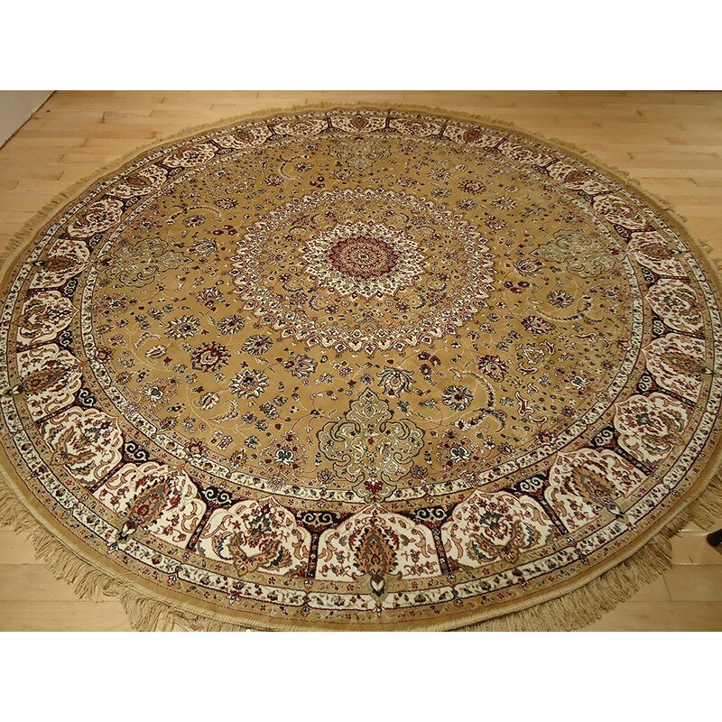 Astoria Grand Shanelle Living Room Hand Knotted Silk Gold Area Rug Reviews Wayfair