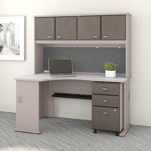 Bush Business Furniture Series A Left Corner 3 Piece L-Shape Desk Office Suite