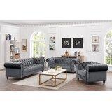 Vanbuskirk 3 Piece Velvet Living Room Set by Mercer41