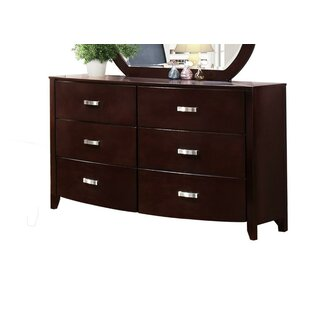 Gia 6 Drawer Double Dresser