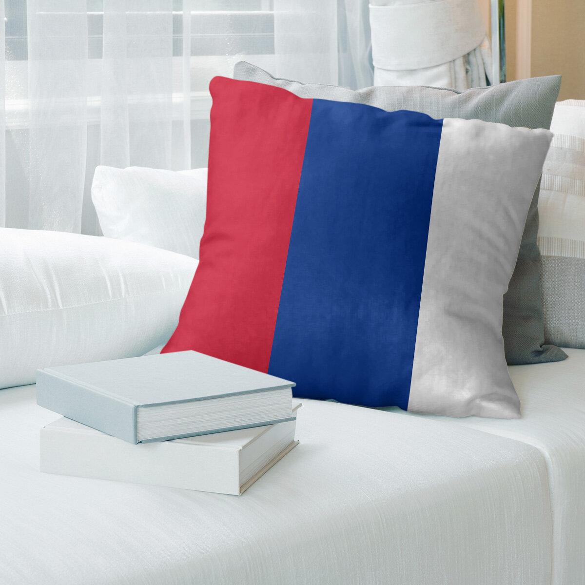 East Urban Home New England Throwback Football Euro Pillow Cover Wayfair