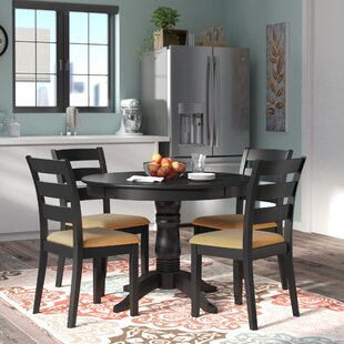Oneill Modern 5 Piece Ladder Back Dining Set