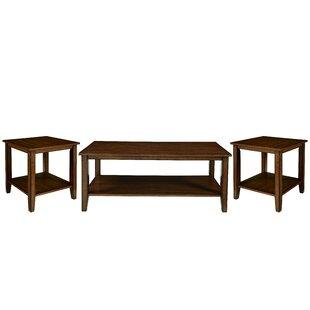 Winston Porter Meriam 3 Piece Coffee Table Set
