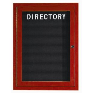 Outdoor Aluminum Enclosed Wall Mounted Letter Board by AARCO