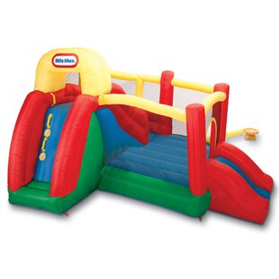 Double Fun Slide 'n Bounce House By Little Tikes