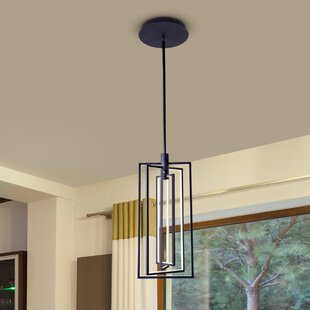 17 Stories Cuthbertson 4-Light LED Integrated Square/Rectangle Pendant