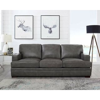 Werner Leather Sofa by 17 Stories