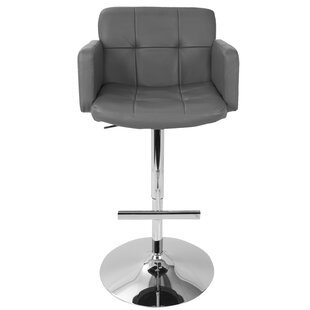 Jamel Adjustable Height Swivel Bar Stool Wade Logan
