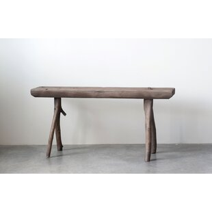 Cooper Square Heavily Distressed Wood Bench by Bungalow Rose