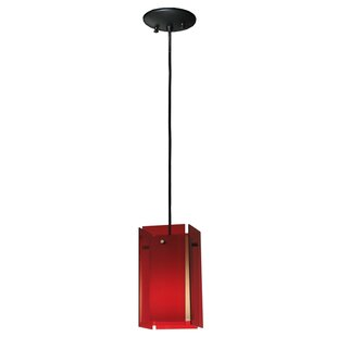 Metro Quadrato Acrylic 1-Light Square/Rectangle Pendant by Meyda Tiffany