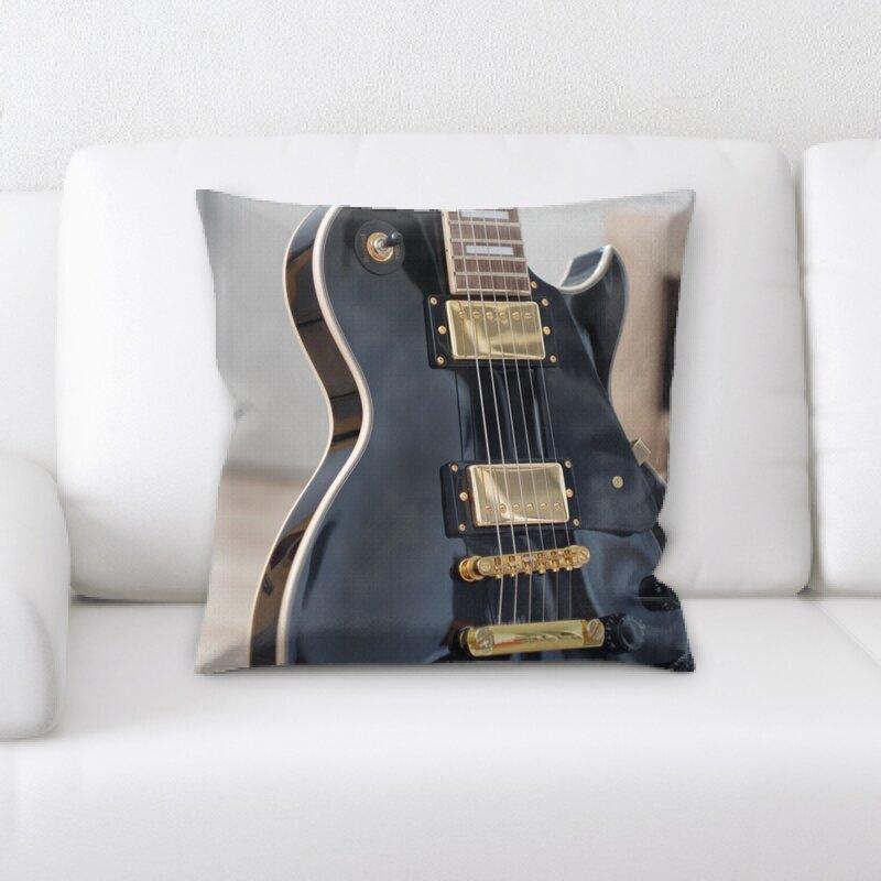 East Urban Home Guitar Throw Pillow Wayfair