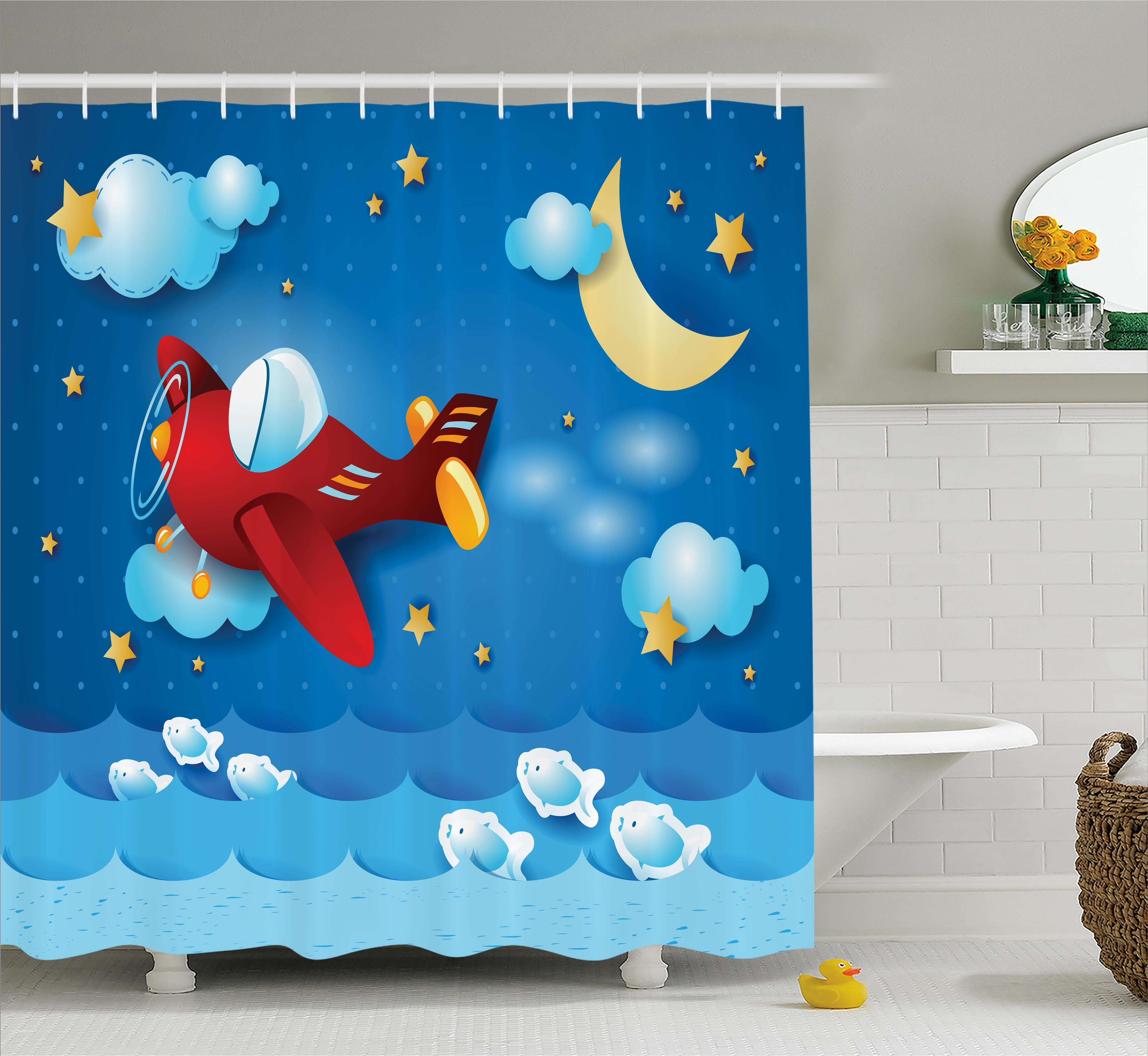 Zoomie Kids Maricela The Moon And Stars Shower Curtain