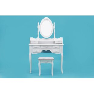 Mulligan Vanity Set with Mirror by House of Hampton