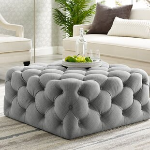 Mudd Square Tufted Cocktail Ottoman