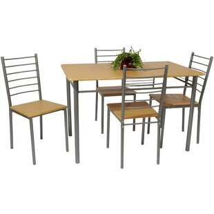 Shelburn Dining Set With 4 Chairs By 17 Stories