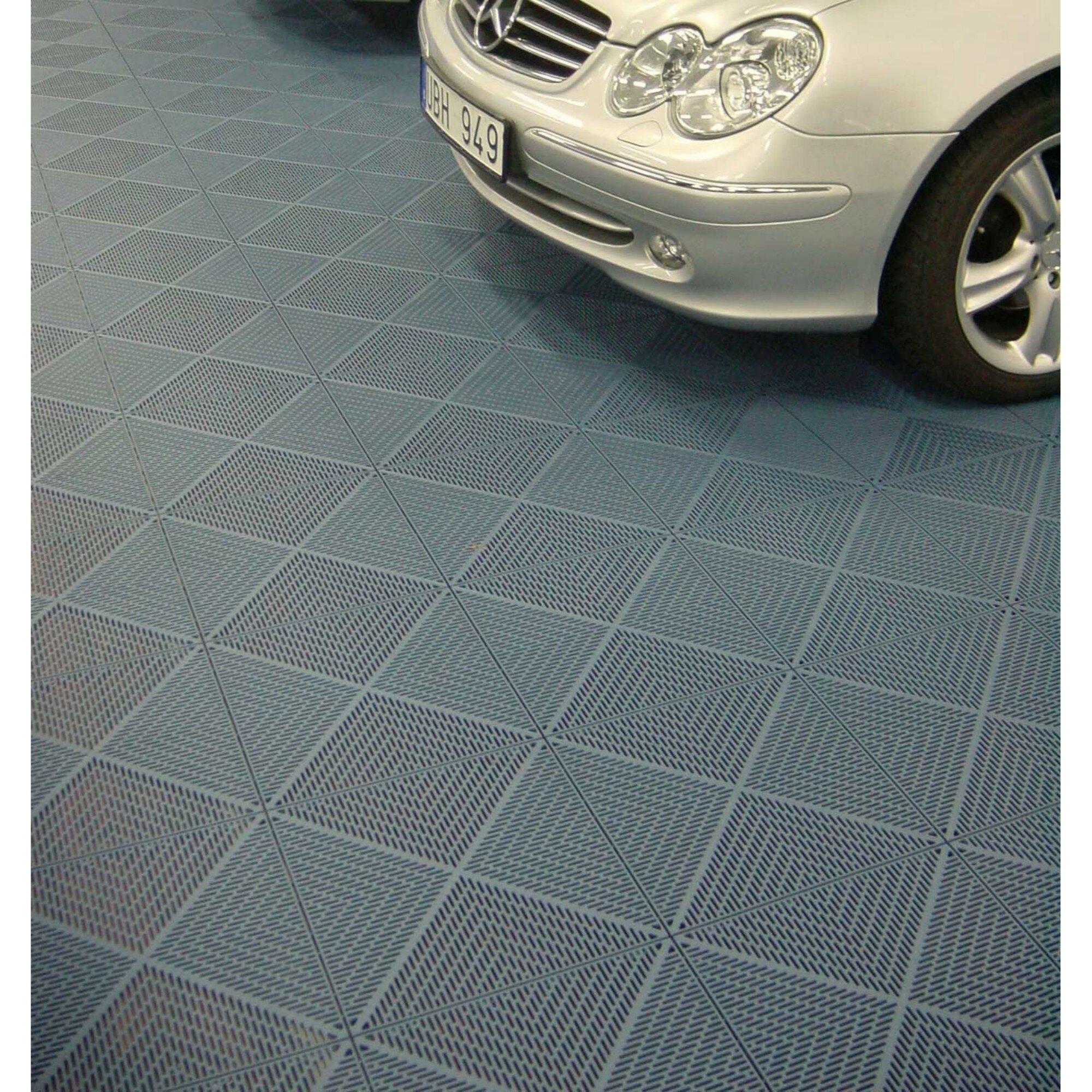 Mats Inc Bergo Unique 14 9 X 14 9 Garage Flooring Drain Tiles In Graphite Wayfair