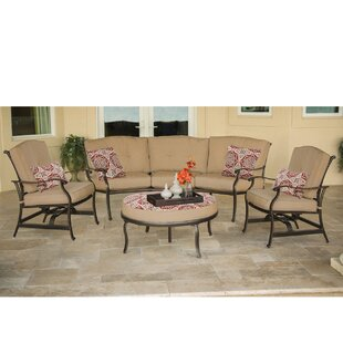 Carleton 4 Piece Sofa Set With Cushions by Fleur De Lis Living Herry Up
