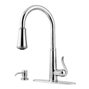 Pfister Ashfield Pull Down Single Handle Kitchen Faucet with Soap Dispenser