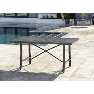 Coyle Tool-Free Outdoor Metal Dining Table