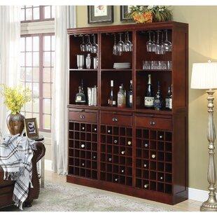 Ebro Wooden 90 Bottle Floor Wine Rack