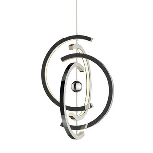 Corinna 4 Crescent 4-Light LED Chandelier by Orren Ellis