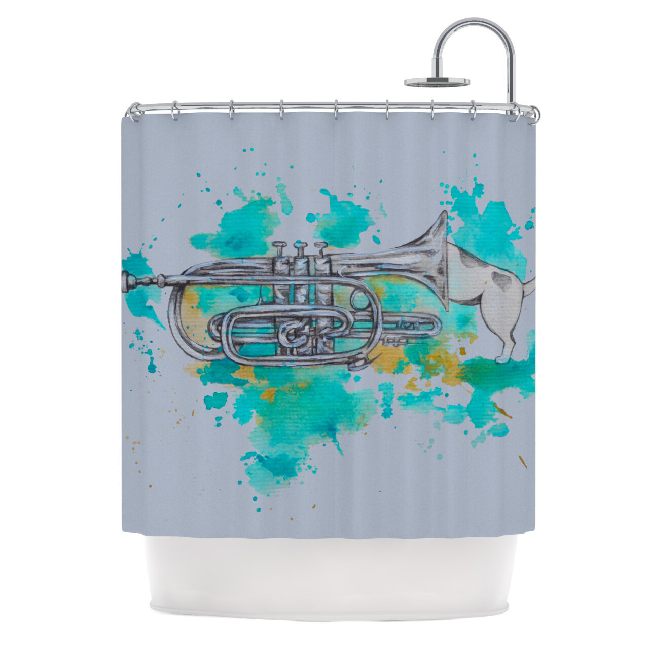 KESS InHouse Hunting for Jazz Shower Curtain & Reviews | Wayfair
