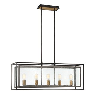 Gracie Oaks Fechteler 5-Light Kitchen Island Pendant
